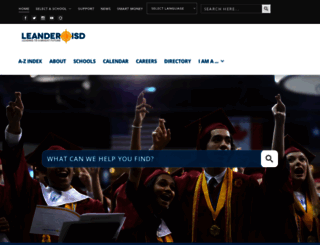 leanderisd.org screenshot