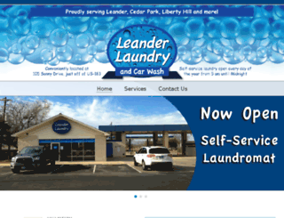 leanderlaundry.com screenshot