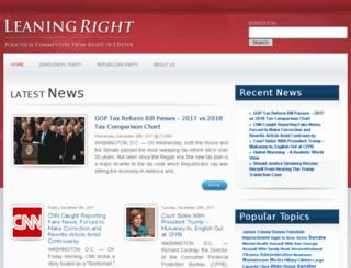 leaningright.com screenshot