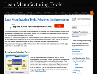 leanmanufacturingtools.org screenshot