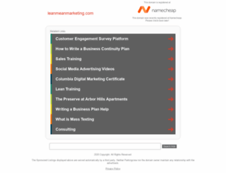 leanmeanmarketing.com screenshot