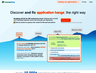 leansentry.com screenshot