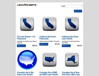 leansheets.dpdcart.com screenshot