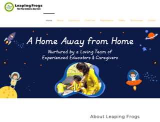 leapingfrogs.in screenshot
