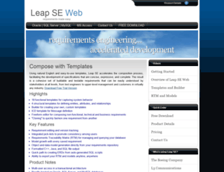 leapse.com screenshot