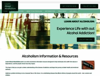 learn-about-alcoholism.com screenshot