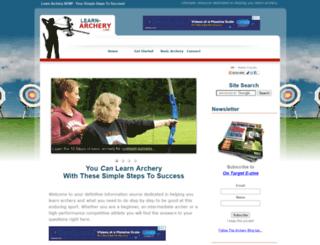 learn-archery.com screenshot