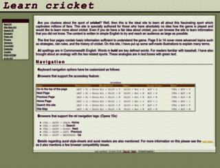 learn-cricket.com screenshot