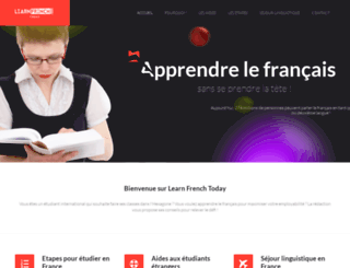 learn-french-today.com screenshot