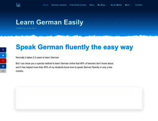 learn-german-easily.com screenshot