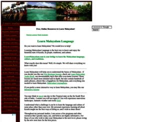 learn-malayalam.com screenshot