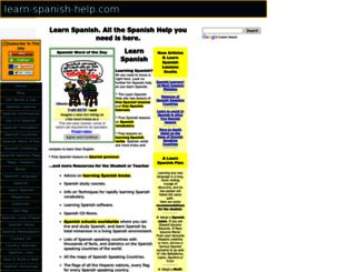 learn-spanish-help.com screenshot