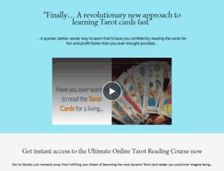 learn-tarot-cards-online.com screenshot