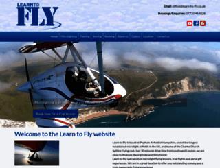 learn-to-fly.co.uk screenshot