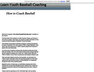 learn-youth-baseball-coaching.com screenshot
