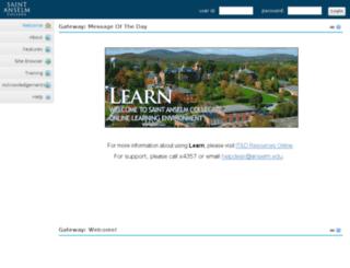 learn.anselm.edu screenshot