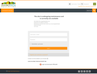 learn.envirotech.edu.au screenshot