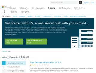 learn.iis.net screenshot