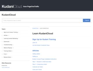learn.kudani.com screenshot