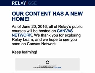 learn.relay.edu screenshot