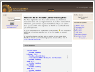 learn.remote-learner.net screenshot