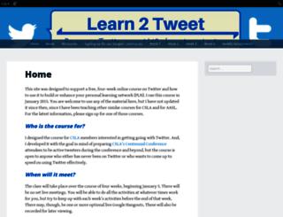learn2tweet.edublogs.org screenshot