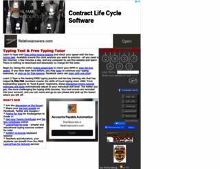 learn2type.com screenshot