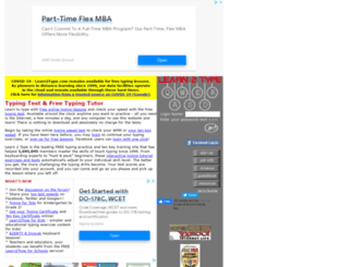 learn2type.net screenshot