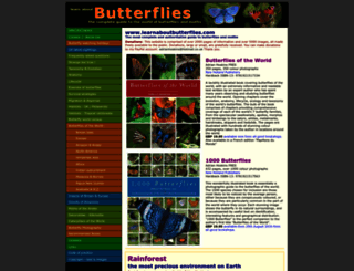 learnaboutbutterflies.com screenshot