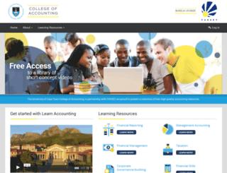 learnaccounting.uct.ac.za screenshot