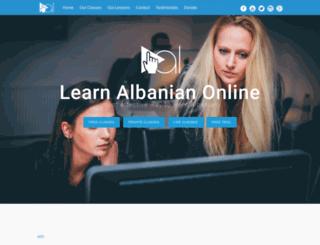 learnalbanianonline.net screenshot