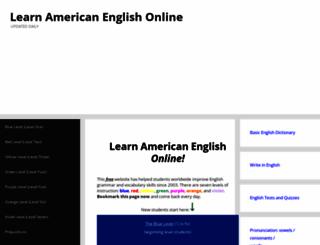 learnamericanenglishonline.com screenshot
