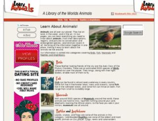 learnanimals.com screenshot