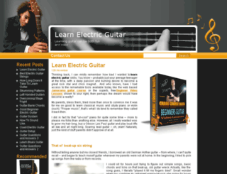 learnelectricguitarnow.net screenshot
