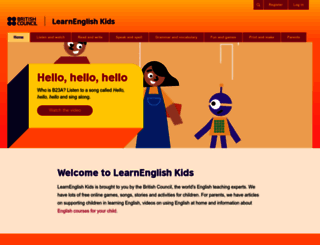 learnenglishkids.britishcouncil.org screenshot