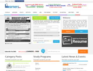 learners.pk screenshot