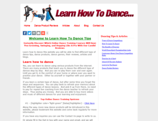 learnhowtodancetips.com screenshot