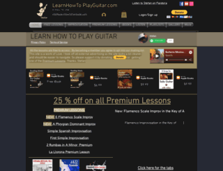 learnhowtoplayguitar.com screenshot