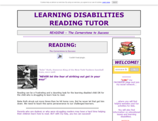 learning-disabilities-reading-tutor.com screenshot