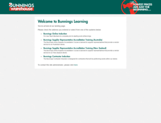 learning.bunnings.com.au screenshot