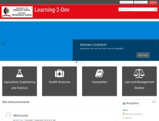 learning2.ukzn.ac.za screenshot