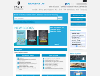 learningcenter.essec.edu screenshot