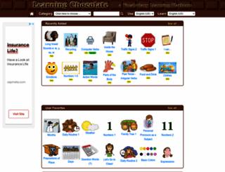 learningchocolate.com screenshot