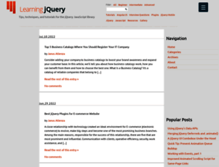 learningjquery.com screenshot