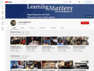 learningmatters.tv screenshot
