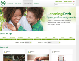 learningpath.leapfrog.com screenshot