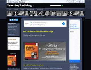 learningradiology.com screenshot