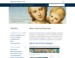 learningresources.nga.gov screenshot