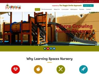 learningspacesnurseries.com screenshot