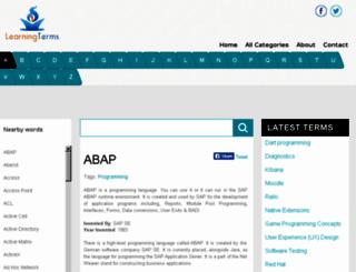 learningterms.com screenshot